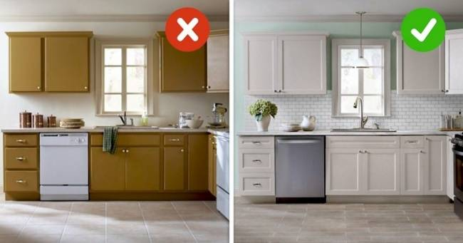 Реставрация старой кухонной мебели своими руками (фото)