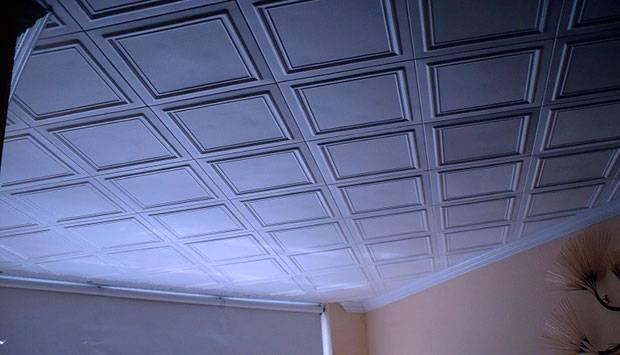 Плитка на потолок из пенополистирола и бесшовная формата 3д, виды и размеры