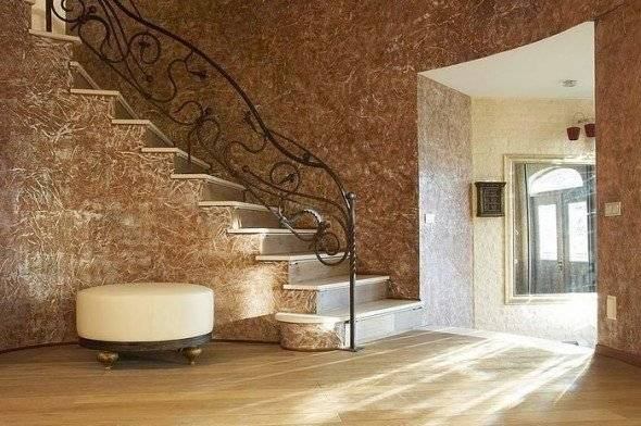 Декоративная шпаклевка из обычной своими руками (57 фото): венецианская штукатурка и фактурная шпатлевка для стен
