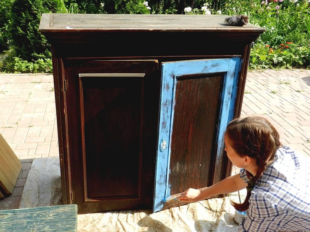 Как отреставрировать старый шкаф своими руками. фото мк