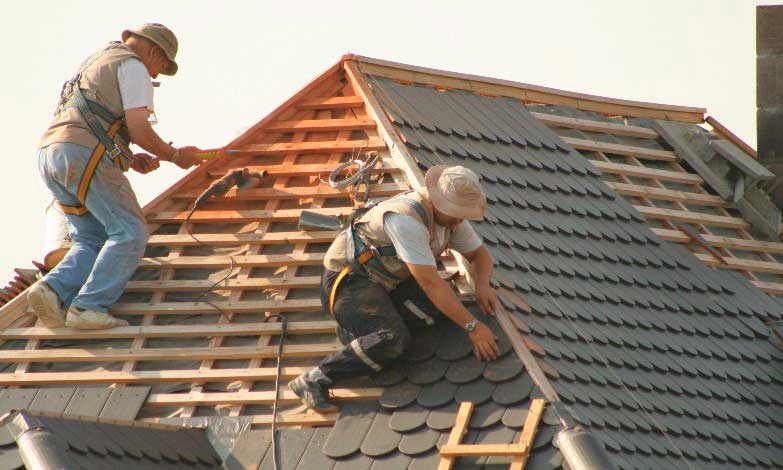Трехскатная крыша гаража пристроенного к дому - строим сами