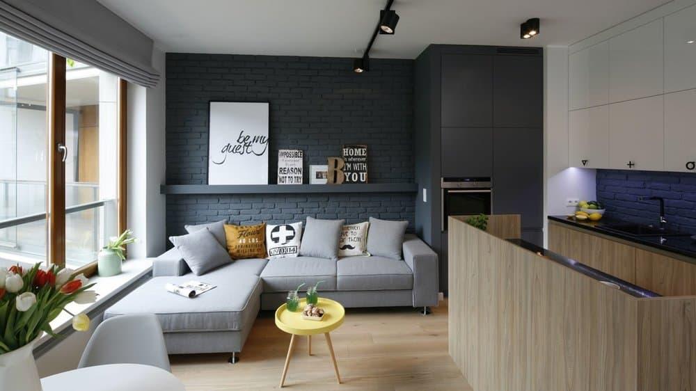 Дизайн однокомнатной квартиры 45 м2: советы, 75 фото интерьеров
