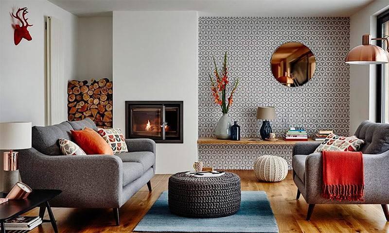 Интерьер гостиной в частном доме фото: дизайн как оформить комнату, отделка и оформление, простое обустройство