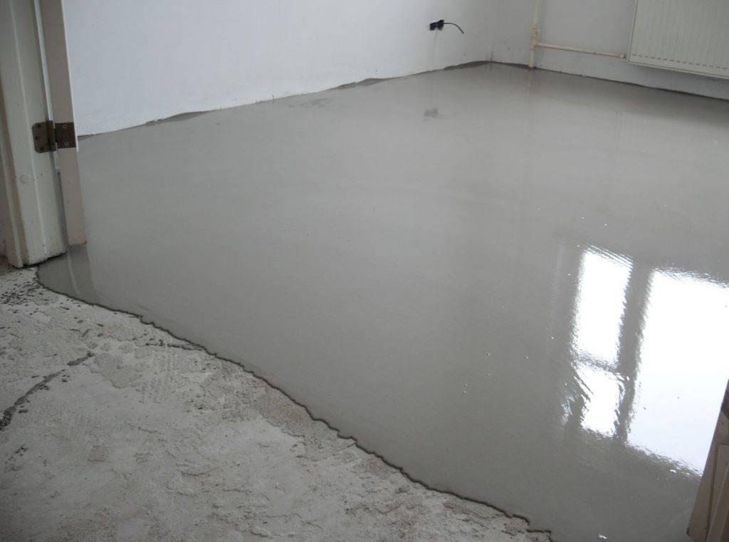 Наливной пол на бетонную стяжку: выравнивание, устройство, нужен ли и через сколько времени заливать, фото и видео