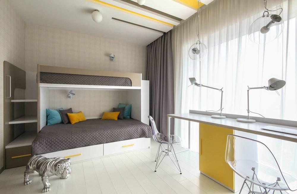 Детская комната для двоих разнополых детей. способы зонирования пространства