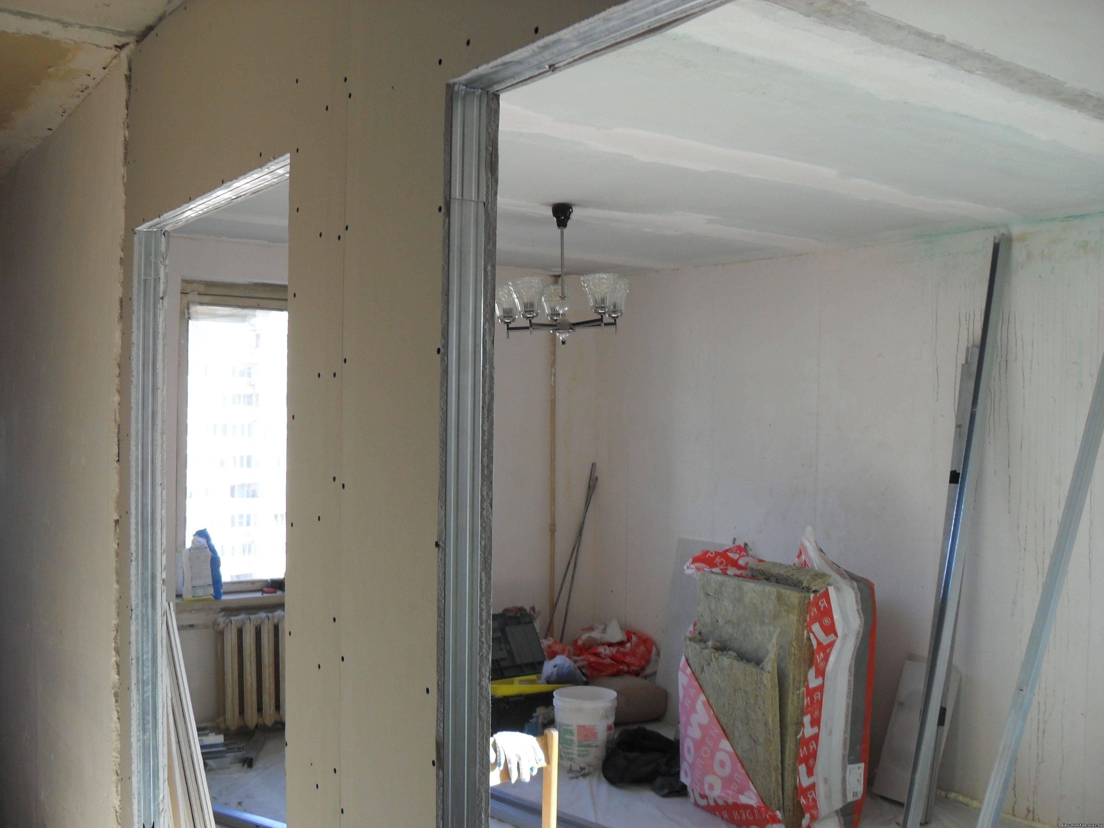 Работа с гипсокартоном своими руками: стены и потолок (видео)