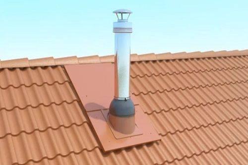 Проход трубы через крышу из профнастила и металлочерепицы