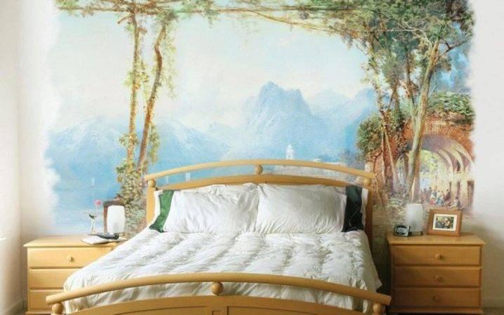 Фотообои в спальню (79 фото) над кроватью и на стену + идеи дизайна в интерьере