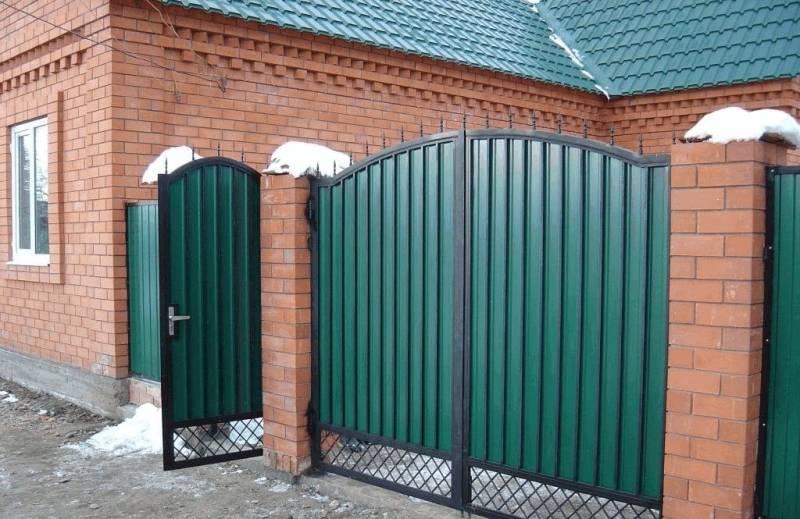 Ворота и калитки из профнастила своими руками с элементами ковки: фото и советы по созданию