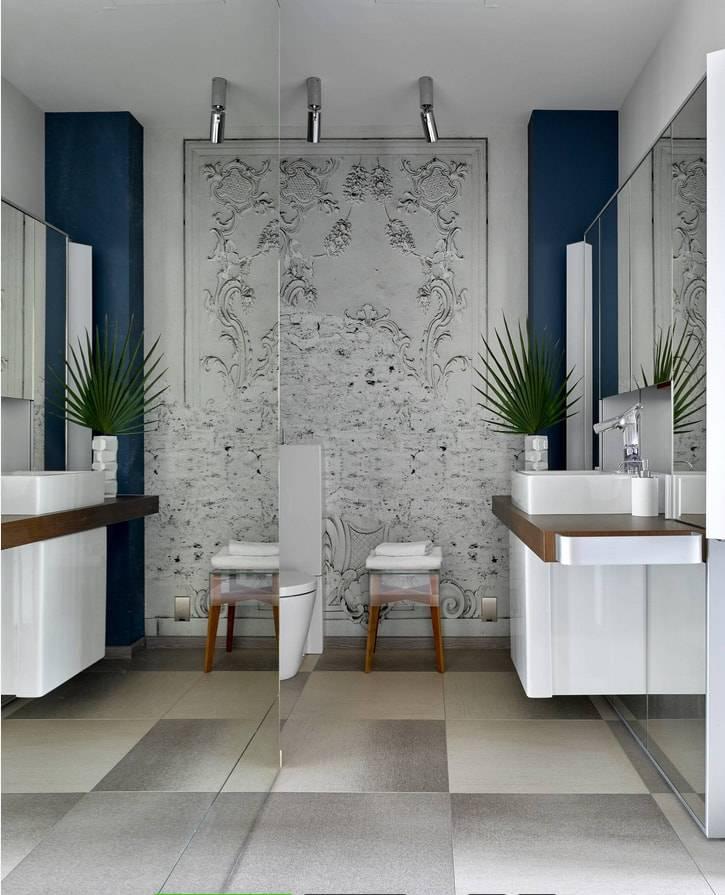 Использование плитки-мозаики в дизайне ванной комнаты: 67 фото красивейших вариантов отделки стен и пола