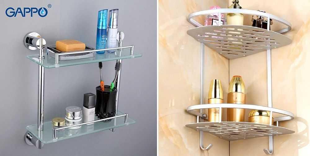 Полки для ванной комнаты, какие выбрать: виды и материал. как сделать полку своими руками