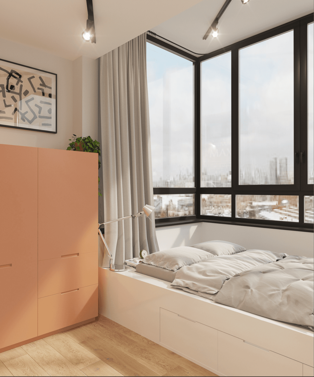 Дизайн однокомнатной квартиры с нишей: 50 фото в интерьере, идеи зонирования