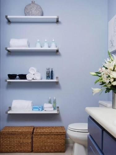 Полка для ванной: 106 фото дизайнерских решений и вариантов