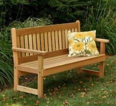 Садовая скамейка своими руками: используем чертежи для изготовления