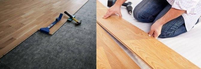 Укладка ламината (72 фото): как укладывать своими руками, как уложить - пошаговая инструкция, как правильно положить покрытие на бетонный пол