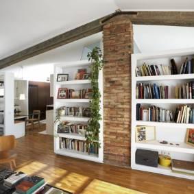 Шкаф-перегородка для разделения комнаты: идеи зонирования на фото