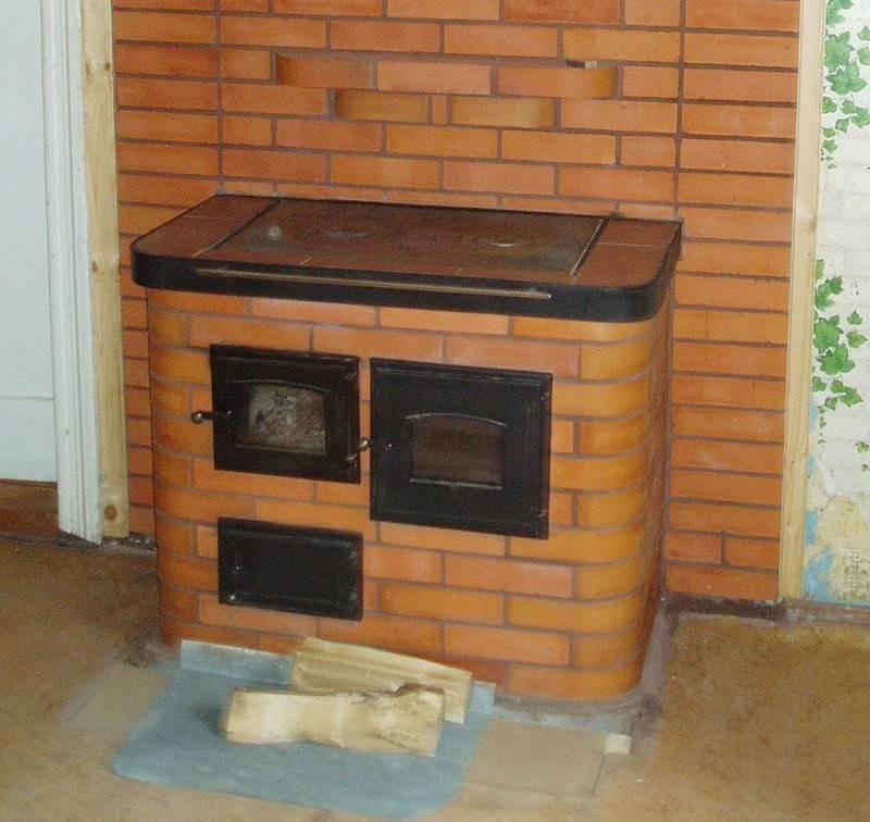 Печь-камин с плитой