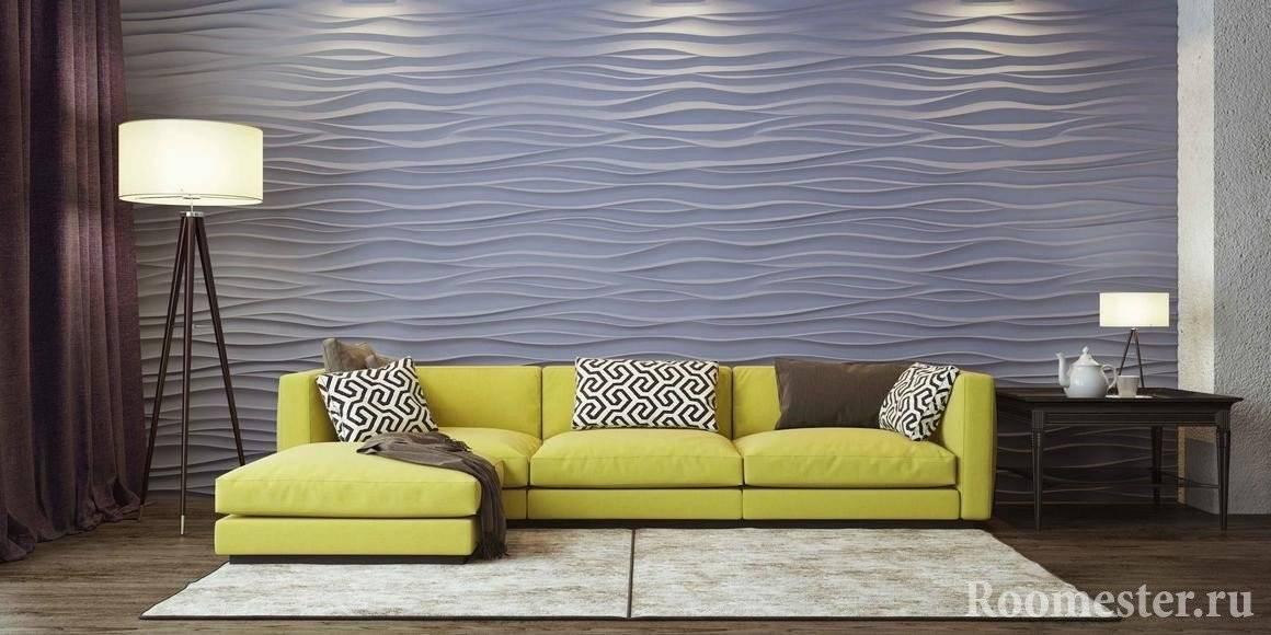 Гипсовые 3d-панели (71 фото): для стен и потолка, под кирпич и волнами для внутренней отделки в интерьере, формы для их изготовления