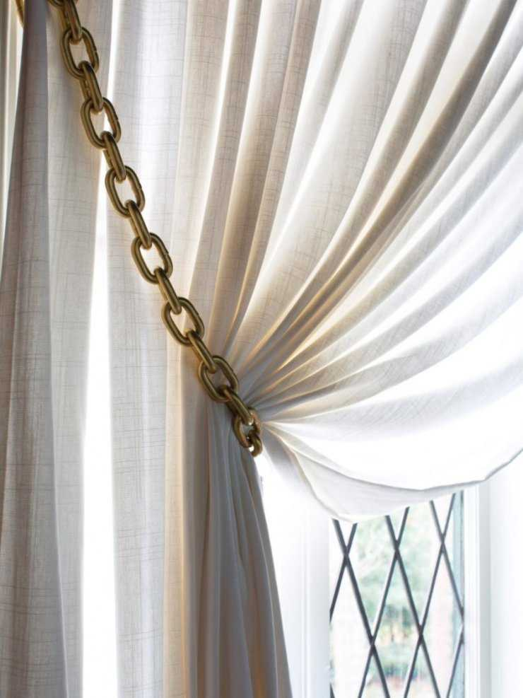 Декор штор - оформление своими руками +80 фото идей