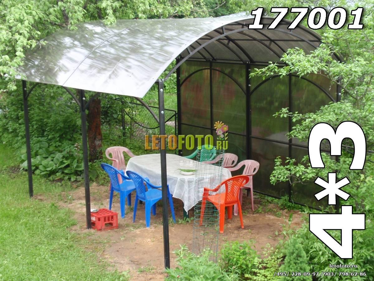 Беседка из поликарбоната во дворе частного дома - фото беседка из поликарбоната во дворе частного дома - фото