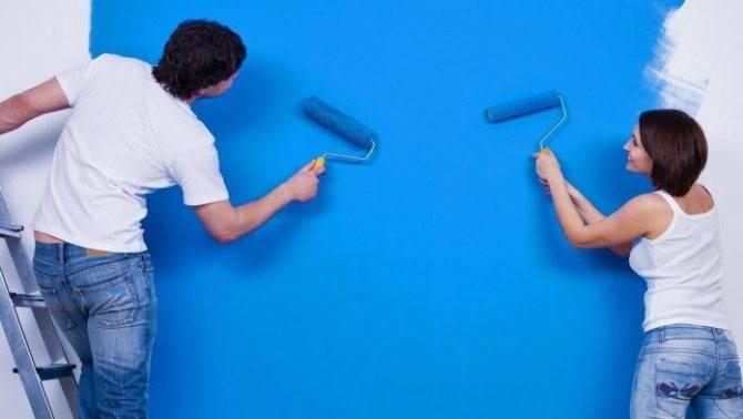 Как покрасить потолок водоэмульсионной краской без разводов своими руками (видео)
