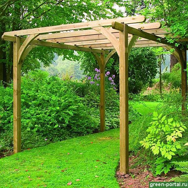 Садовая пергола, строительство своими руками - фото примеров