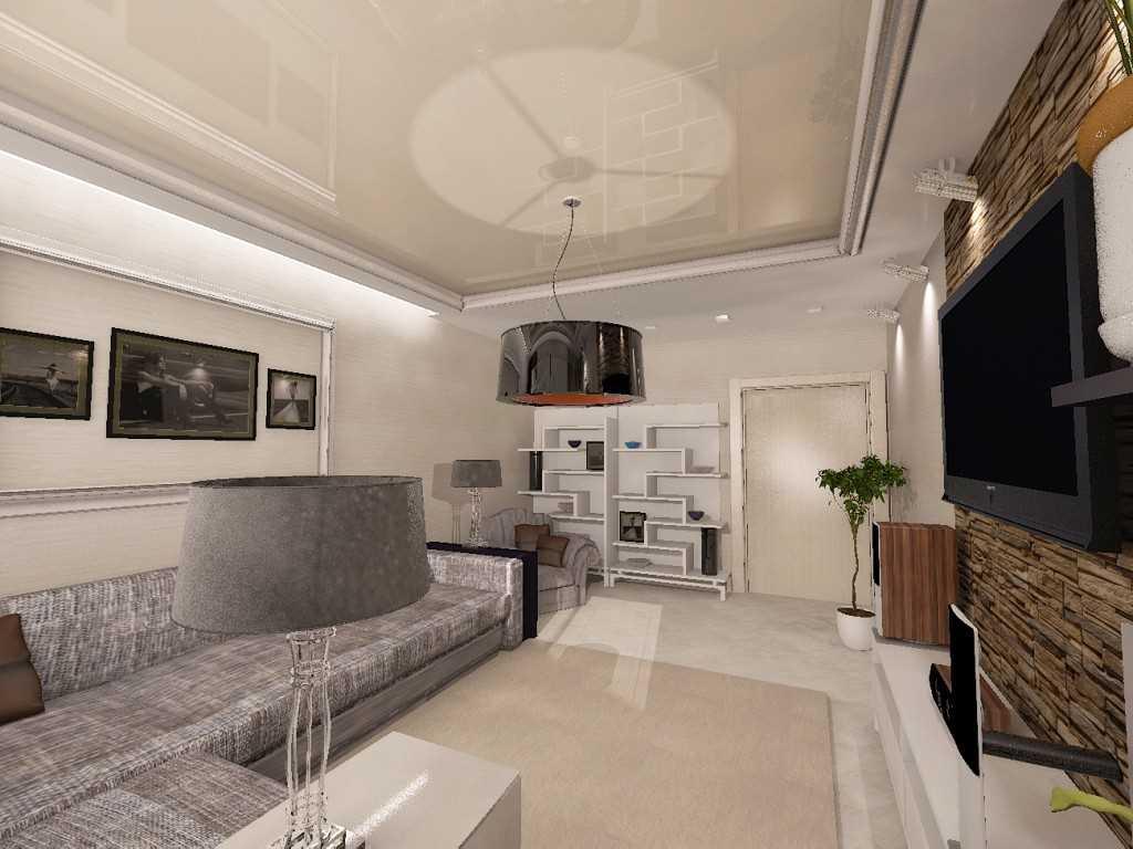 Интересные идеи дизайна гостиной-спальни 20 кв. м.