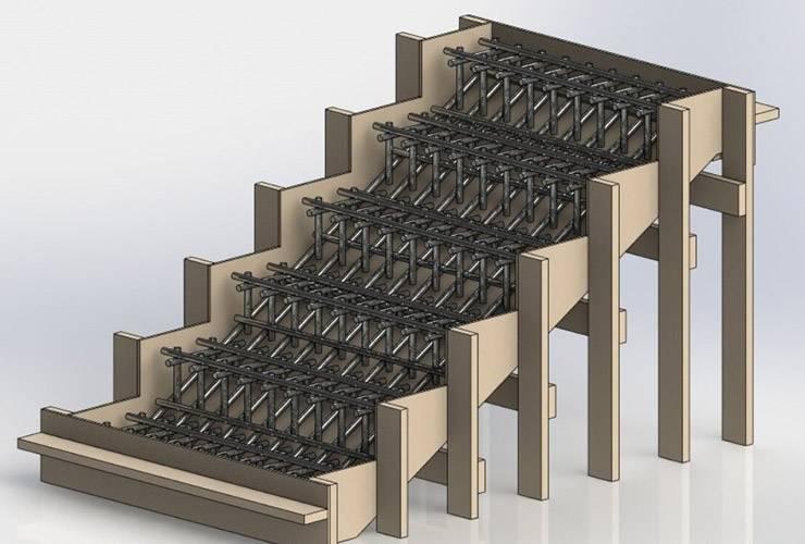 Монолитная лестница в частном доме своими руками из бетона: плюсы и минусы, советы по монтажу и отделке бетонной лестницы