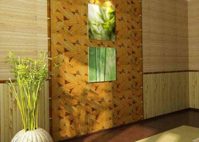 Бамбуковые обои в интерьере кухни - роскошь, доступная всем (15 фото)
