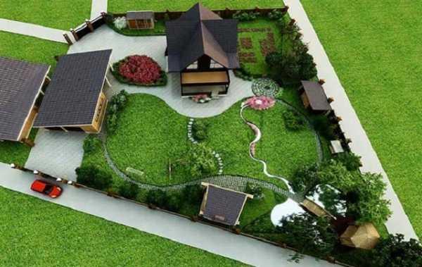 Планировка участка 4 сотки: 34 фото, дизайн, примеры готовых проектов, ландшафтный дизайн дачной территории своими руками