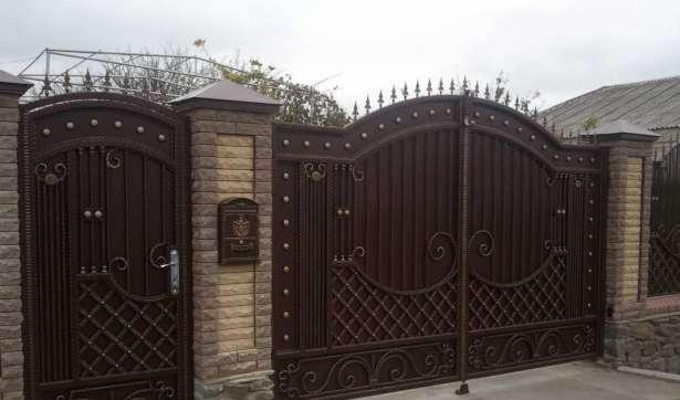 Складные ворота для дачи