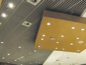 Виды потолока грильято