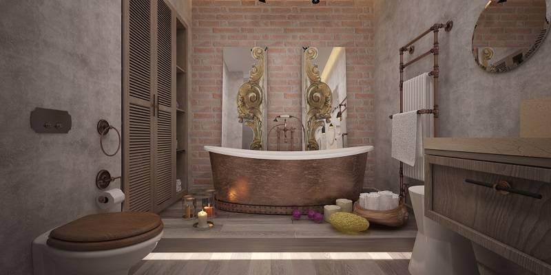 Декоративная штукатурка в ванной комнате (39 фото): отделка своими руками