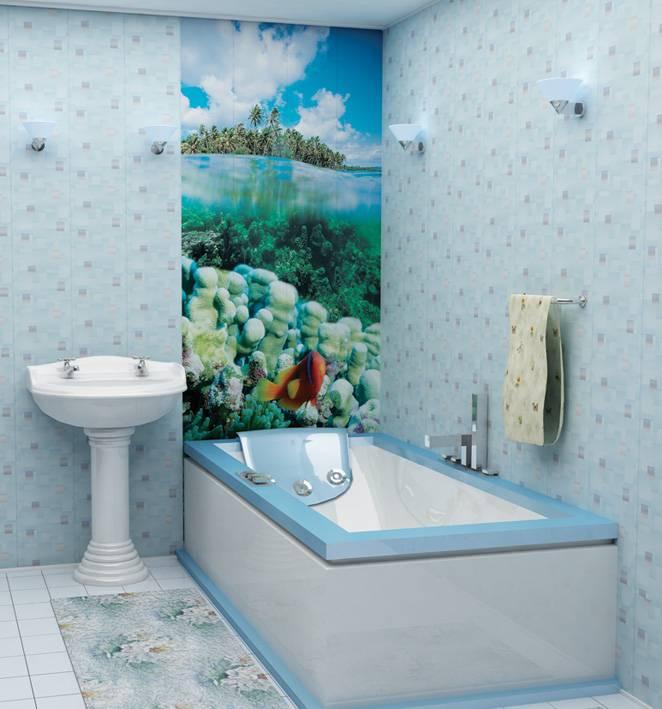 Стеновые панели для ванных комнат: разновидности, выбор, монтаж