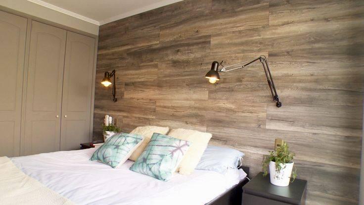 Ламинат на стене в интерьере: фото примеров монтажа, советы