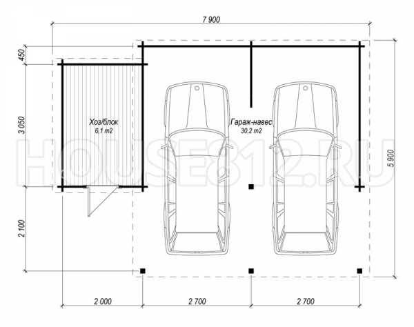 Размеры гаража на 1 машину: оптимальная высота, ширина и длина в частном доме
