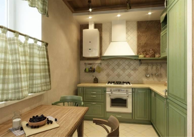 Дизайн кухни в хрущевке с газовой колонкой: фото интерьера, идеи ремонта