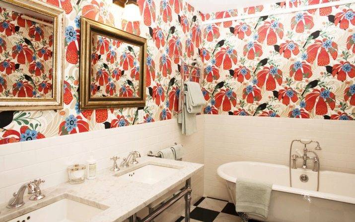 Какие обои выбрать для ванной комнаты — виды и особенности