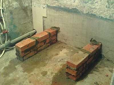 Установка чугунной ванны— пошаговая инструкция от подготовки до выравнивания
