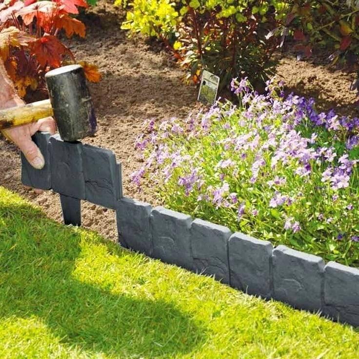 Бордюрная лента для грядок и газонов - обзор изделий по характеристикам, способу установки и цене