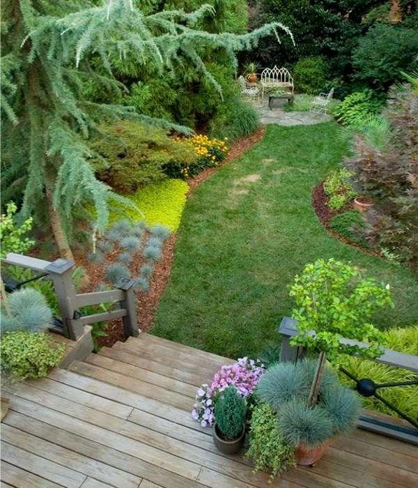 Ландшафтный дизайн частного дома своими руками с 30 фото дворов
