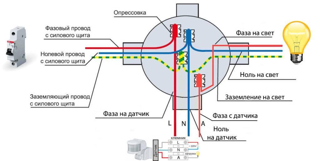 Подключение датчика движения для освещения: схема, настройка