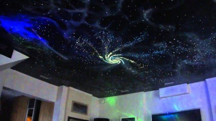 Как сделать потолок звездное небо своими руками (монтаж), фосфорные звездочки, проекция небосвода со звездами: фото
