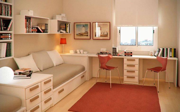 Расстановка мебели в маленькой комнате - 25 фото