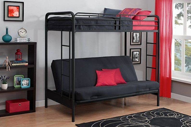 Двухъярусная кровать с диваном: [80+ фотоидей] 2019