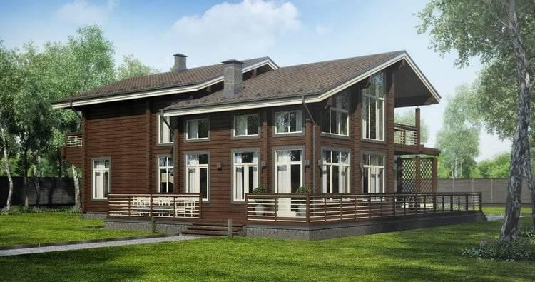 Как построить красивый дом из бруса своими руками