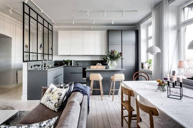 Кухня-гостиная в скандинавском стиле: варианты дизайна