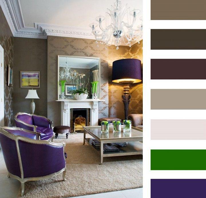 Коричневый цвет и его сочетания в интерьере: 80+ фото и примеров
