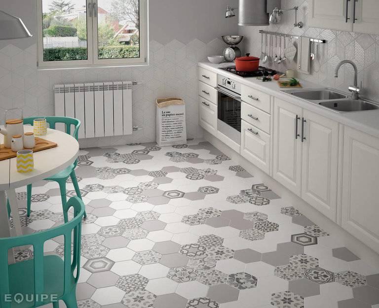 Плитка для кухни на пол – 50 фото в интерьере и гид по выбору