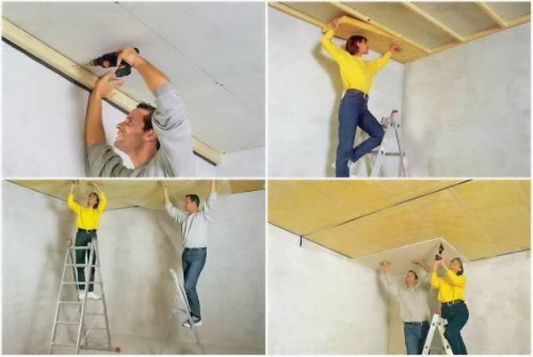 Как утеплить потолок в деревянном доме снаружи и внутри своими руками